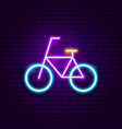 bicycle neon label vector image vector image