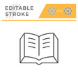 book editable stroke line icon vector image