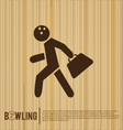 Bowler bowling alley vector image