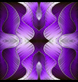 bright purple violet embroidery abstract vector image