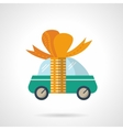 Car gift flat color icon vector image