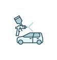 car paint concept colored icon vector image