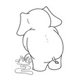 cartoon characters of elephants urinating vector image vector image