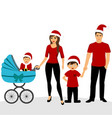 christmas card christmas with family family vector image