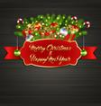 christmas tree gift boxes ball candy garland vector image