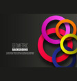 circle geometric abstract background colorful vector image