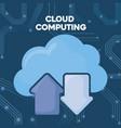 cloud computing design vector image vector image