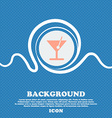 cocktail sign icon Blue and white abstract vector image