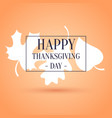 colorful poster happy thanksgiving vector image