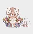 cute flowers doodle cartoons vector image vector image