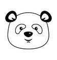 cute panda emoji kawaii vector image
