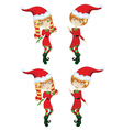 Cute Xmas Elves vector image
