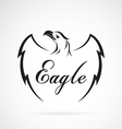 Eagle design on white background vector image vector image