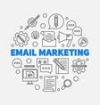 email marketing round concept line vector image