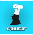 Flat silhouette chef hat icon vector image