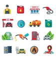 Gas Station Color Icons Set vector image