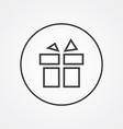 gift outline symbol dark on white background logo vector image vector image