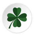 green four leaf clover icon circle vector image vector image