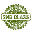 grunge textured 2nd class stamp seal vector image vector image