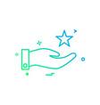 hand star icon design vector image vector image