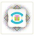 happy birthday greeting card design vector image