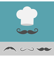 hat mustache big set vector image vector image