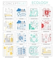infographics mini concept green ecology icons vector image