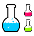Laboratory flask with acid Tube for research vector image vector image