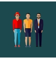 men fashion style in flat style vector image