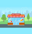 mini market shop vector image