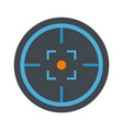 modern gun target icon flat style vector image vector image