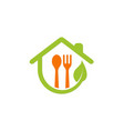 organic food house logo vector image vector image