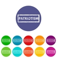 Patriotism flat icon vector image vector image