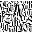 pattern ornament in gothic style alphabet vector image vector image