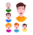 people horror faces extremely surprised vector image vector image