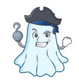 pirate cute ghost character cartoon vector image
