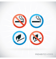 Prohibited Icons vector image
