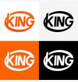Round modern logo king