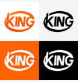 round modern logo of king vector image