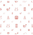 route icons pattern seamless white background vector image vector image