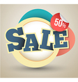 Sale tag banner vector image vector image