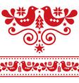 scandinavian christmas folk design elements vector image vector image