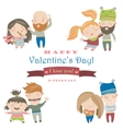 set four positions loving couple vector image vector image