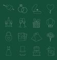 Set of wedding icons vector image vector image