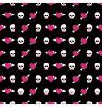 skulls and hearts vector image vector image