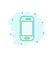 smartphone icon in comic style phone handset vector image vector image