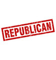 square grunge red republican stamp vector image
