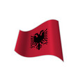 the flag of albania vector image