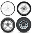Tires for Bicycle Motorcycle Car and Truck vector image vector image