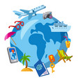 travel and journey icon vector image vector image
